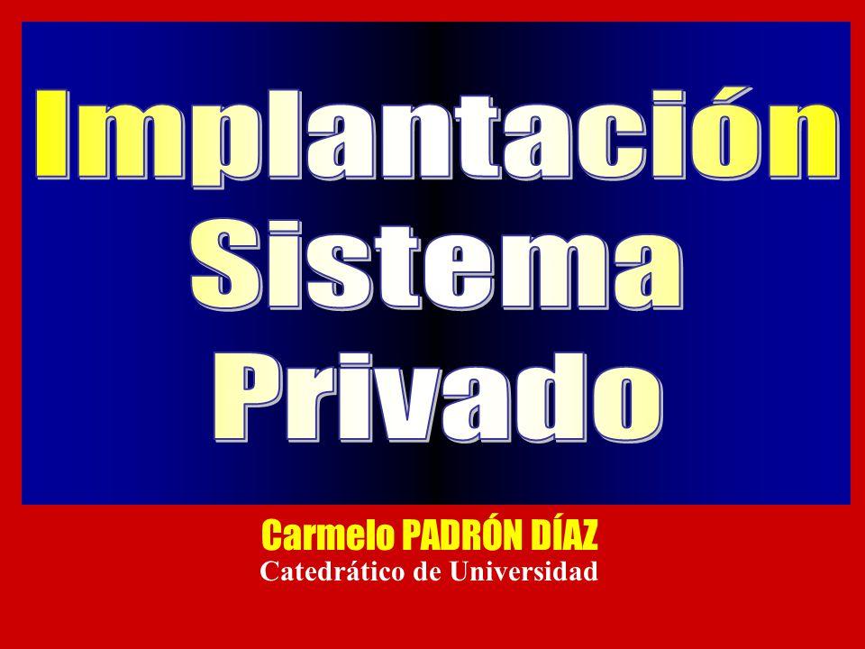 Carmelo PADRÓN DÍAZ Catedrático de Universidad