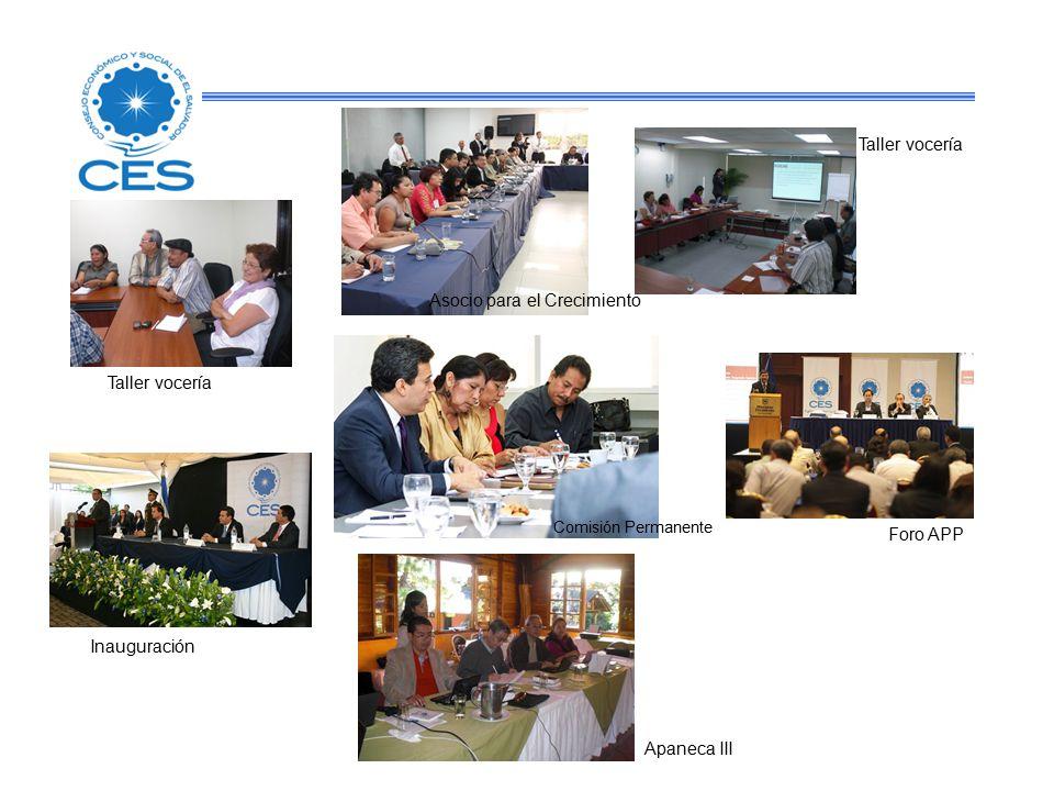 Inauguración Apaneca III Foro APP Comisión Permanente Taller vocería Asocio para el Crecimiento