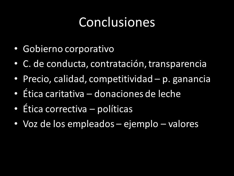 Conclusiones Gobierno corporativo C.