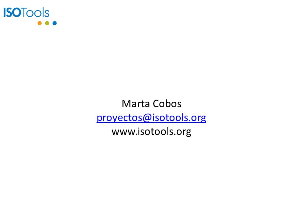 Marta Cobos proyectos@isotools.org www.isotools.org