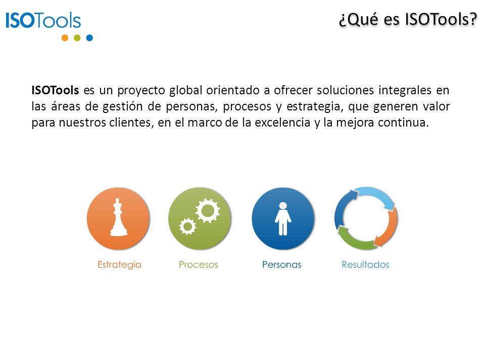 ISOTools es un proyecto global orientado a ofrecer soluciones integrales en las áreas de gestión de personas, procesos y estrategia, que generen valor