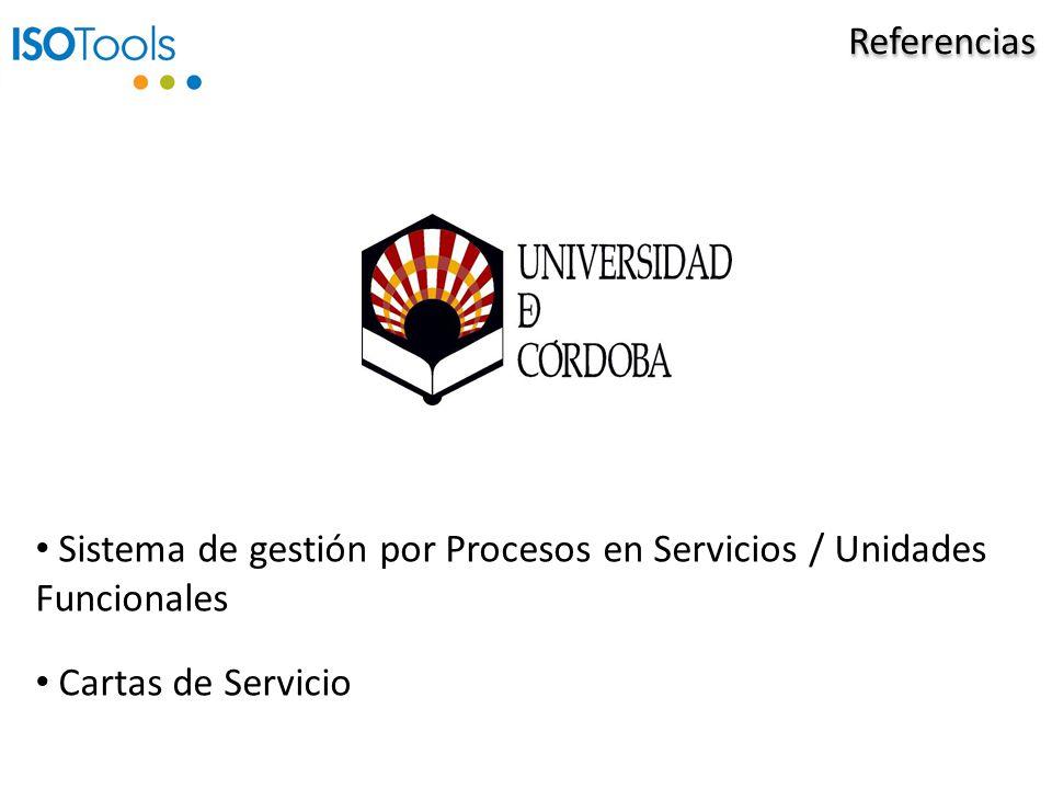 Referencias Sistema de gestión por Procesos en Servicios / Unidades Funcionales Cartas de Servicio