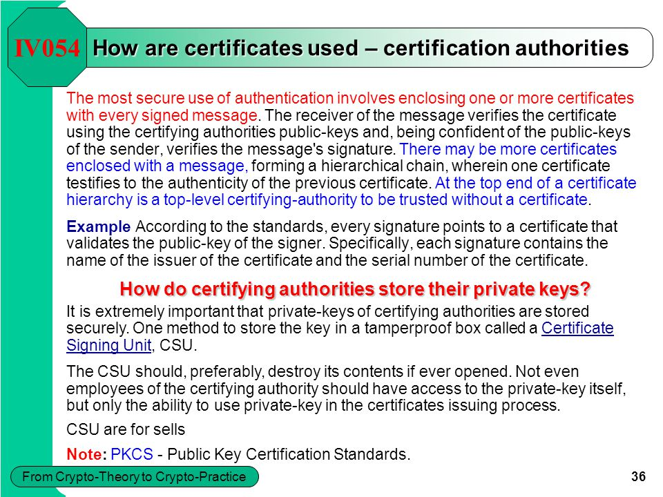 37 From Crypto-Theory to Crypto-Practice What is PKI.