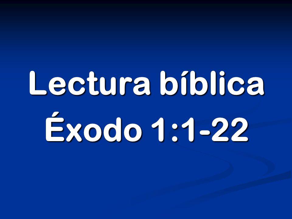 Lectura bíblica Éxodo 1:1-22