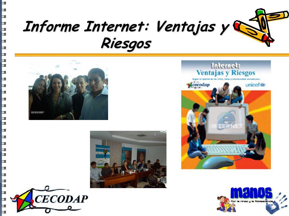 Informe Internet: Ventajas y Riesgos