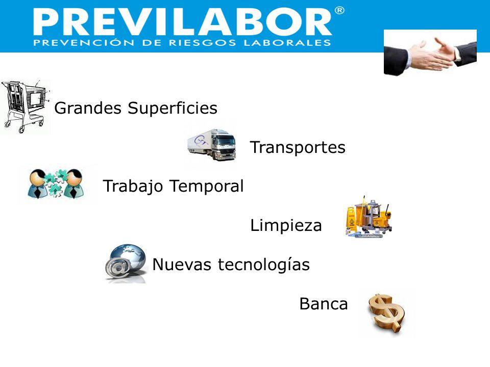 Grandes Superficies Transportes Trabajo Temporal Limpieza Nuevas tecnologías Banca
