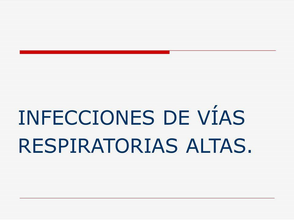 INFECCIONES DE VÍAS RESPIRATORIAS ALTAS.
