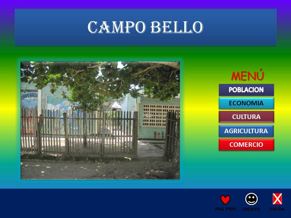 CAMPO BELLO SALIDA CREDITO PAG. PRIN. ECONOMIA CULTURA AGRICULTURA COMERCIO MENÚ