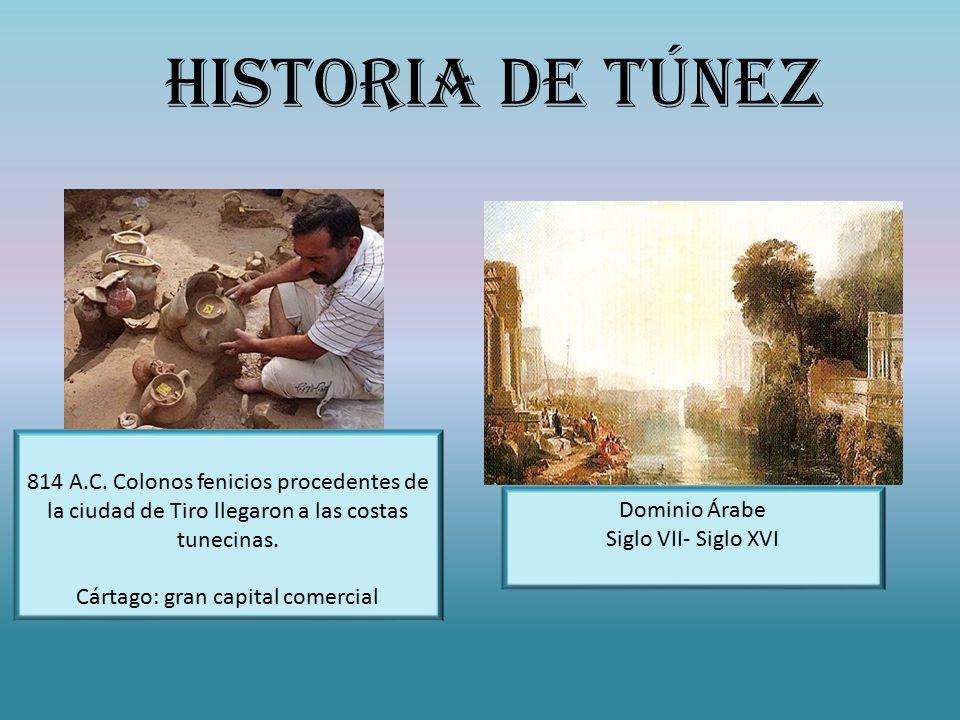 814 A.C. Colonos fenicios procedentes de la ciudad de Tiro llegaron a las costas tunecinas.