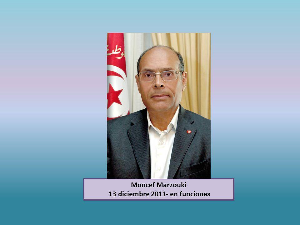 Moncef Marzouki 13 diciembre 2011- en funciones