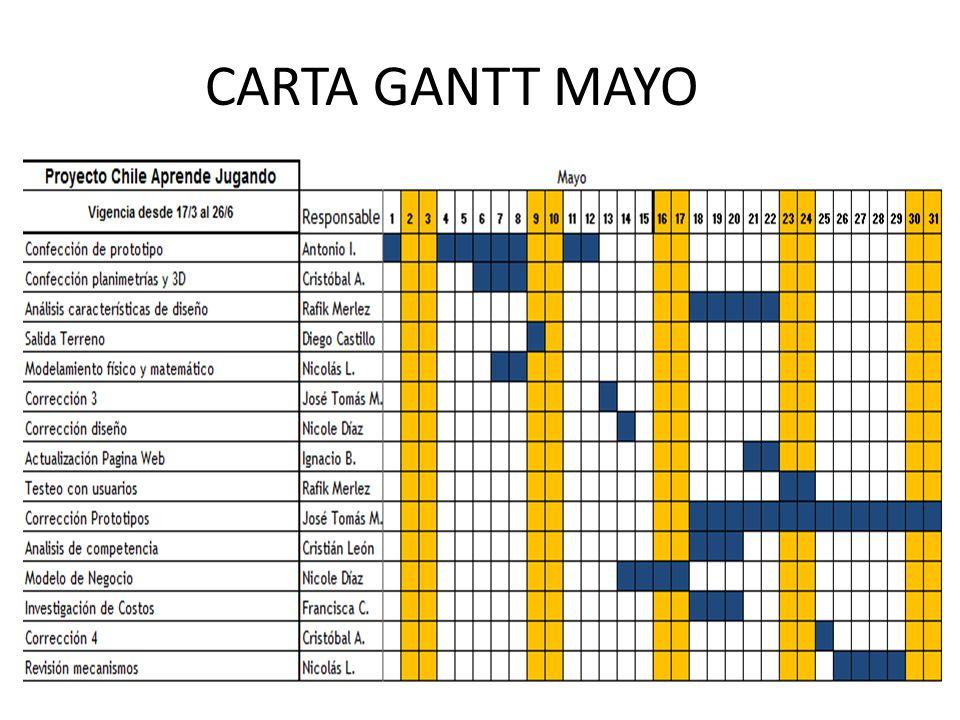 CARTA GANTT MAYO