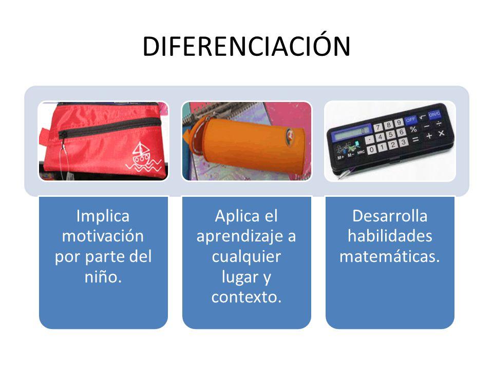 DIFERENCIACIÓN Implica motivación por parte del niño.