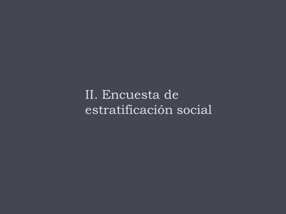 II. Encuesta de estratificación social