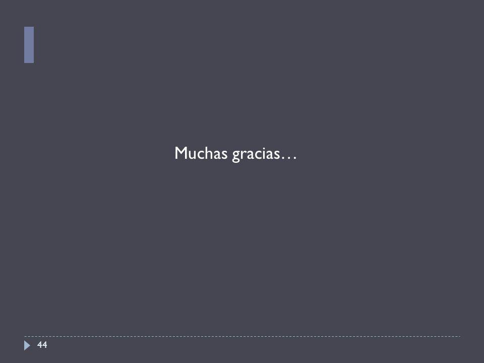44 Muchas gracias…