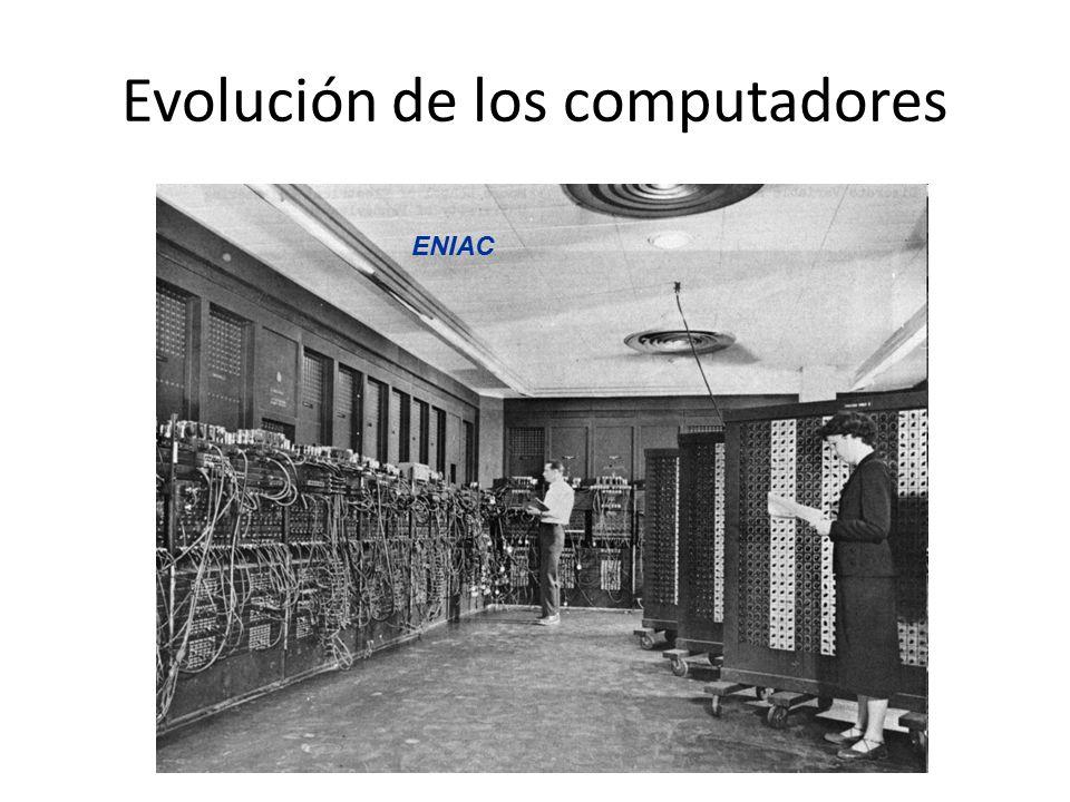 Evolución de los computadores ENIAC