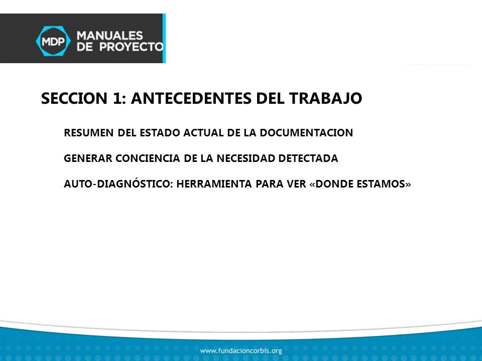 SECCION 2: INTRODUCCION AL TRABAJO RESUMEN DEL PROCESO DE TRABAJO ESENCIA DEL TRABAJO: LOS BENEFICIOS CONCRETOS FORMATO DEL PRODUCTO (MANUALES) Y MODO DE USO IMPACTO EN LA ORGANIZACIÓN