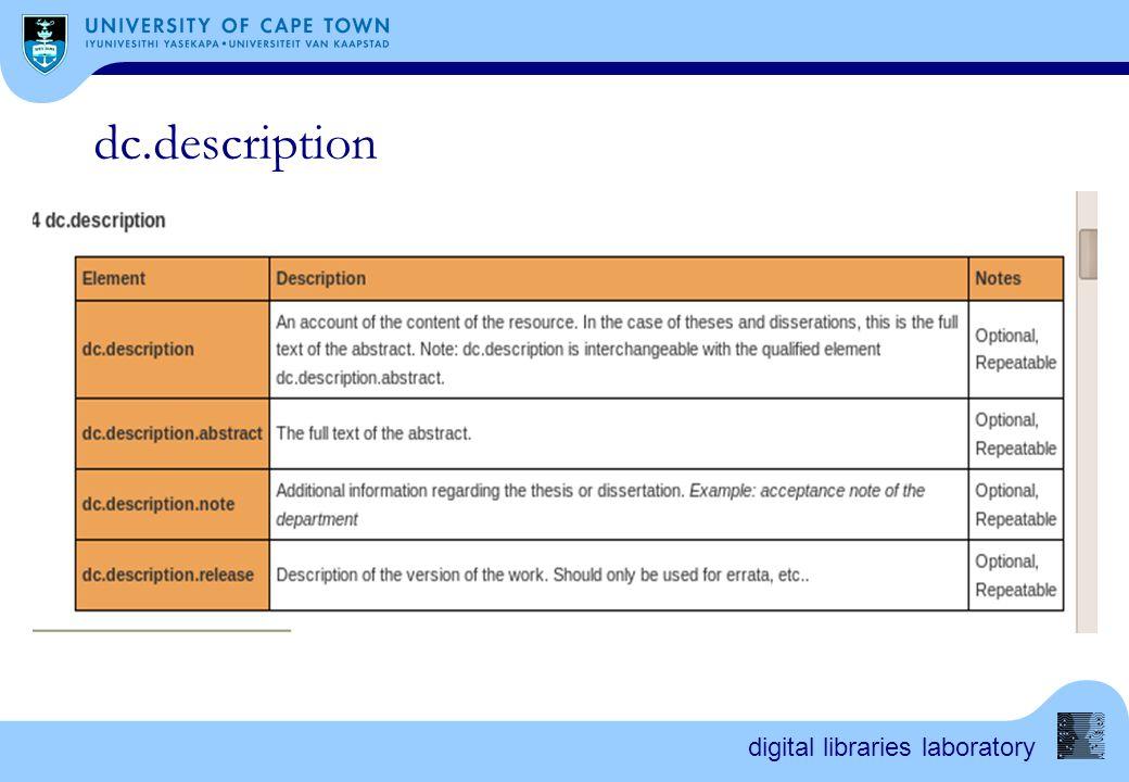digital libraries laboratory dc.description