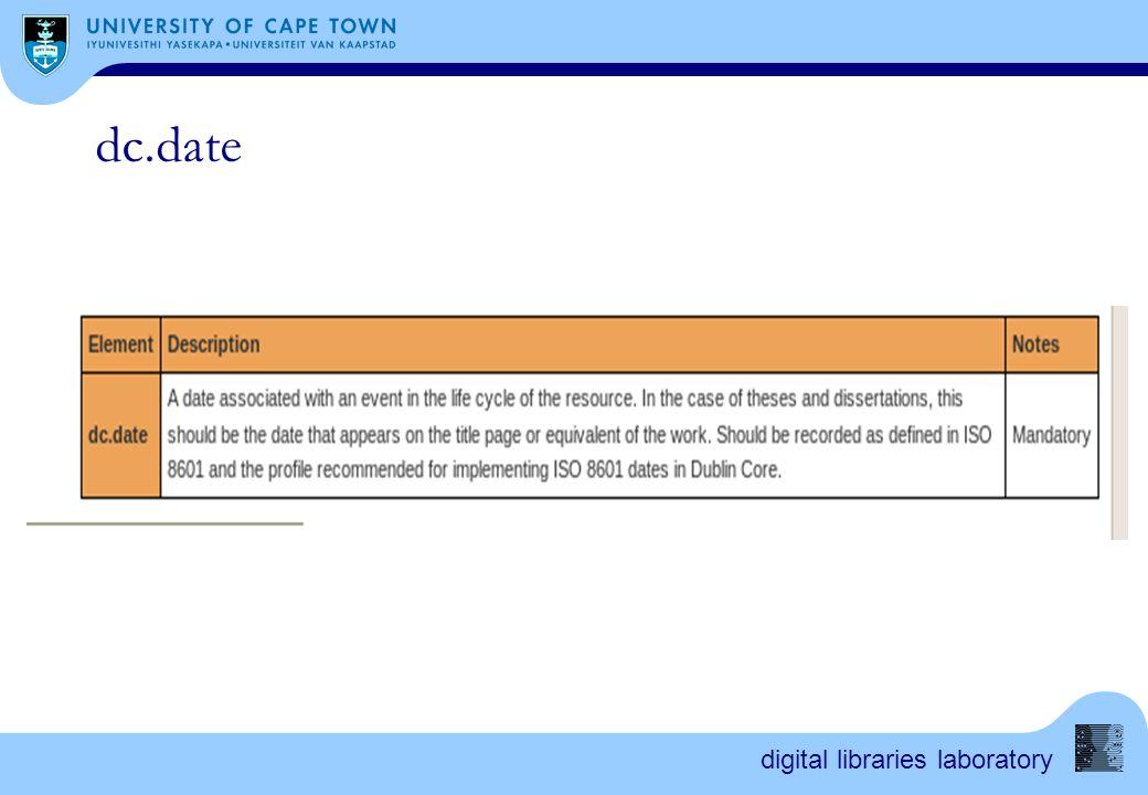 digital libraries laboratory dc.date