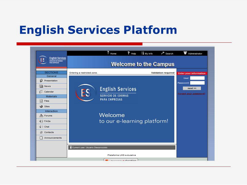 English Services Platform