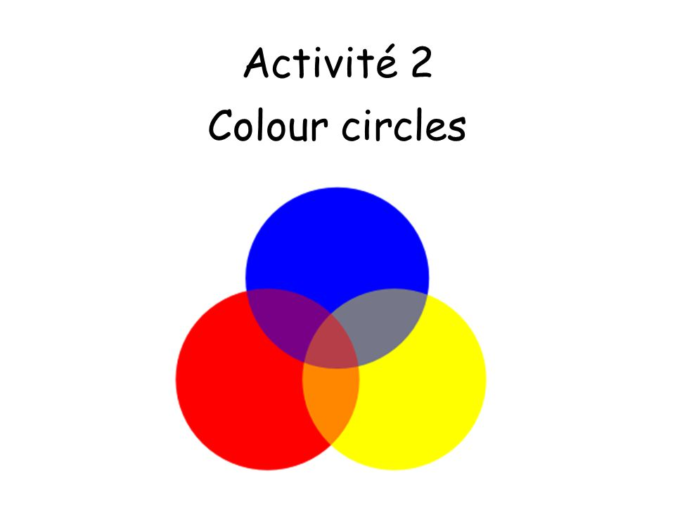 1.Trouve le means Find the 2.Pupils have a selection of objects which are different colours in front of them.