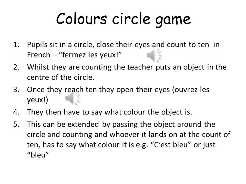 Activité 2 Colour circles