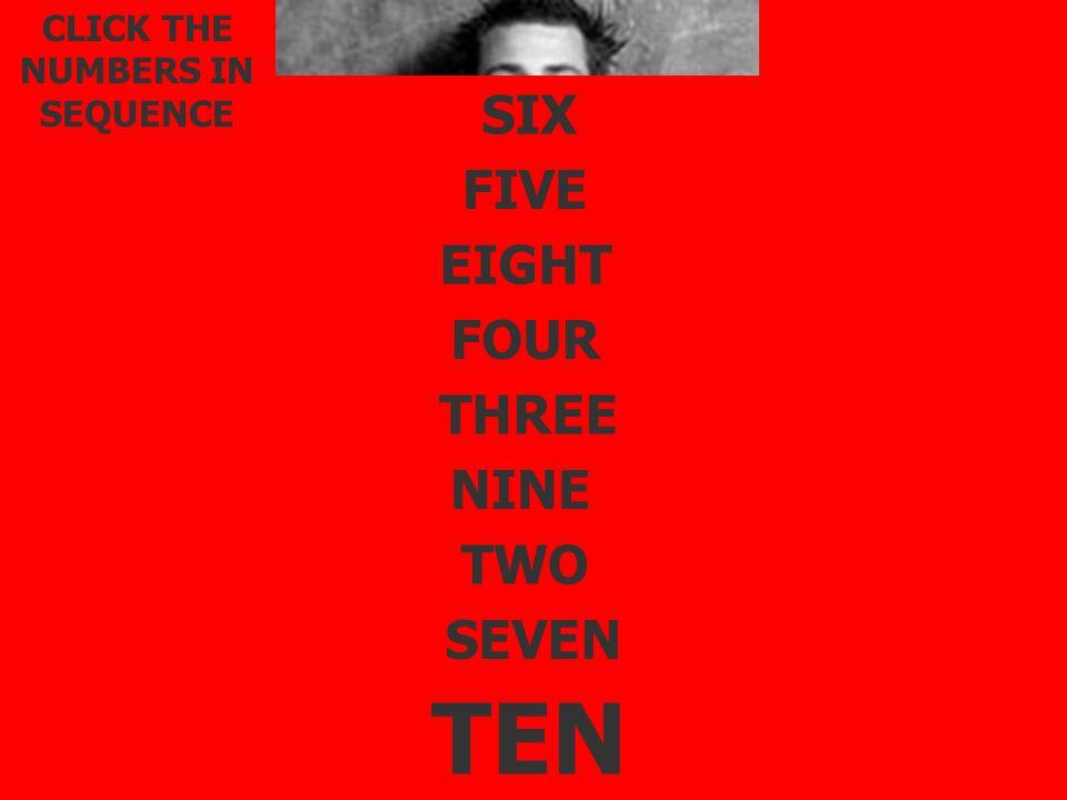 CLIQUEZ SUR LES CHIFFRES DANS L'ORDRE. TWO THREE FOUR FIVE SIX SEVEN EIGHT NINE TEN ONE