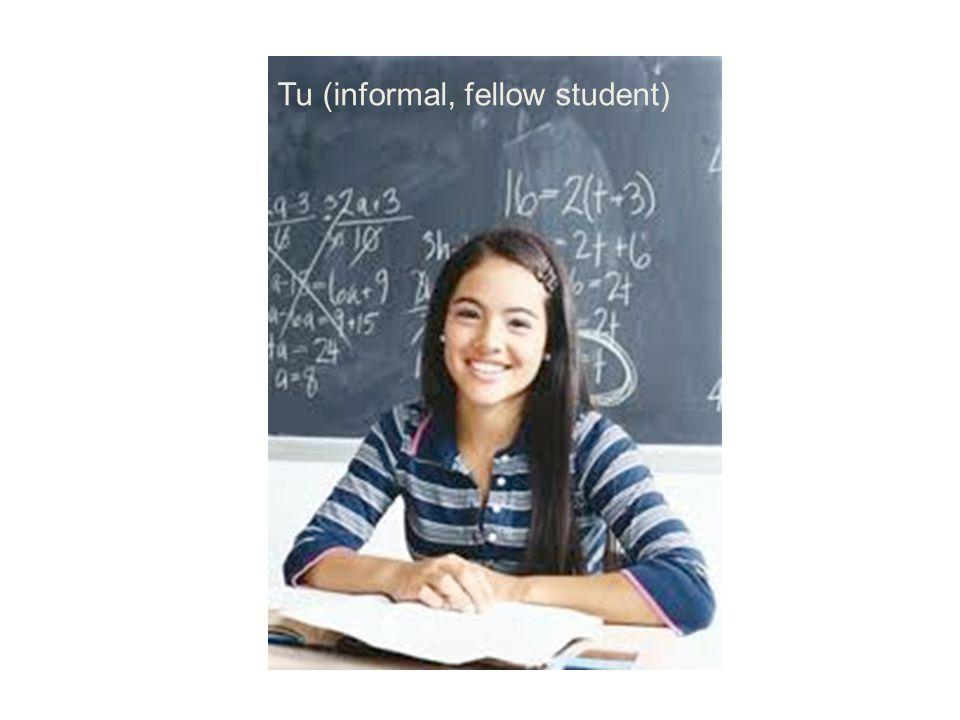 Tu (informal, fellow student)
