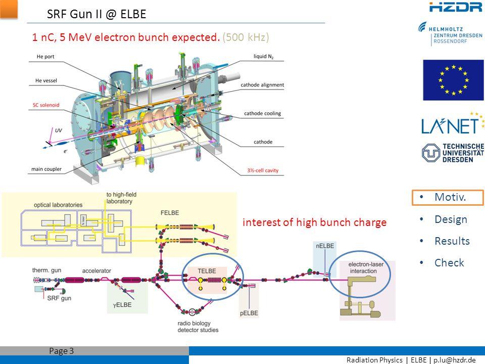 Radiation Physics   ELBE   p.lu@hzdr.de Page 14 For better longitudinal phase space… Motiv.