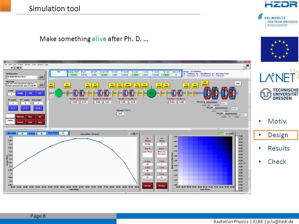 Radiation Physics   ELBE   p.lu@hzdr.de Page 9 SRF Gun parameters determination Motiv.