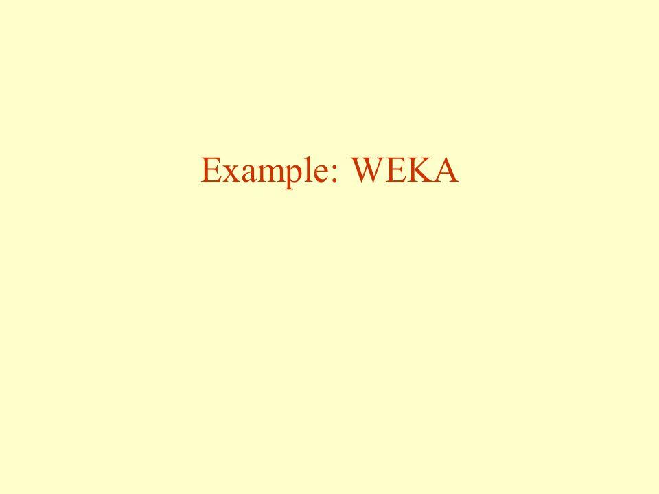 Example: WEKA