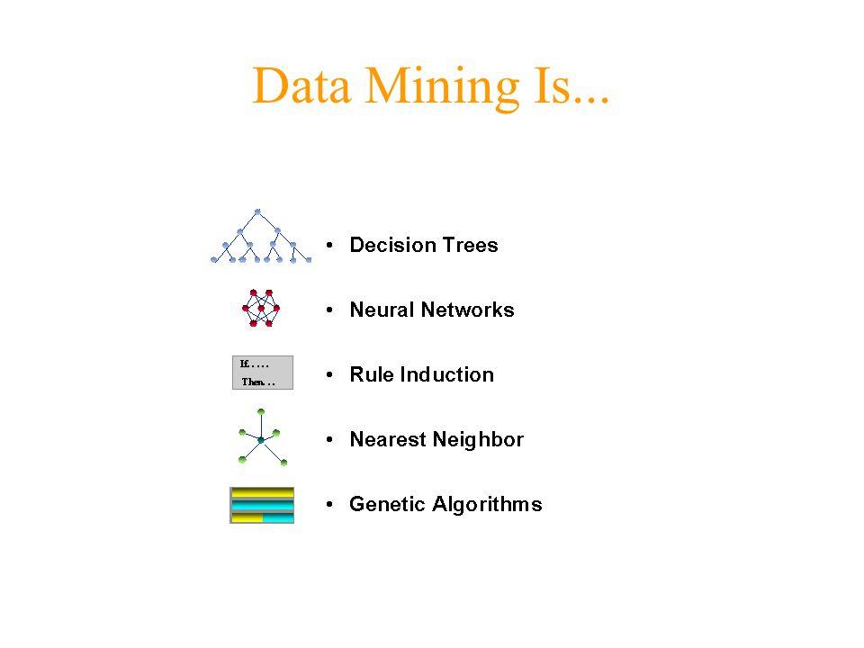 Data Mining Is...