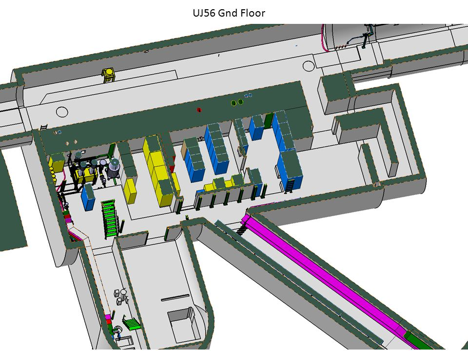16martin.gastal@cern.ch Footprint of the UJ56 safe room → Intergration to be studied Service area L-2 USC55 25/03/2010
