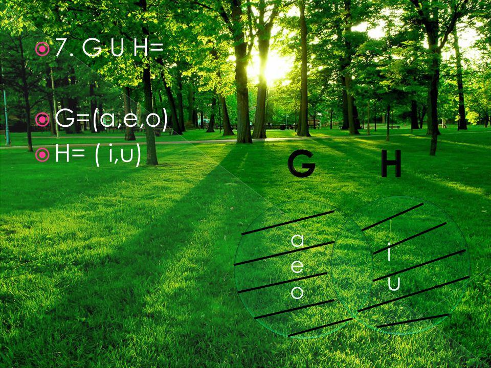  7. G U H=  G=(a,e,o)  H= ( i,u) aeoaeo iuiu