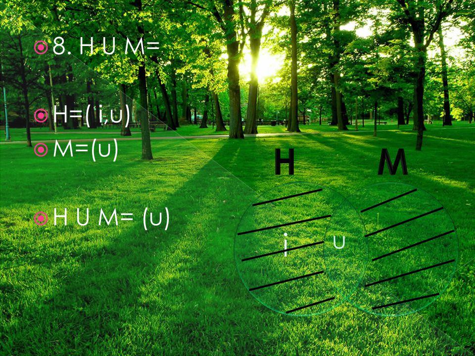  8. H U M=  H=( i,u)  M=(u)  H U M= (u) i u