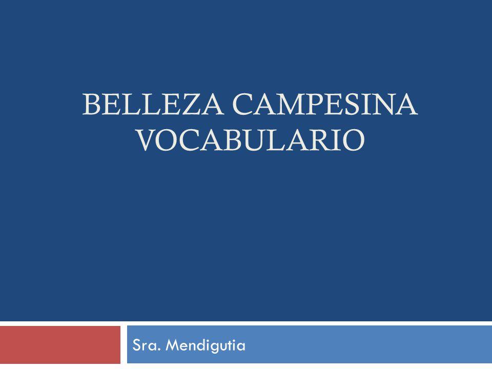BELLEZA CAMPESINA VOCABULARIO Sra. Mendigutia