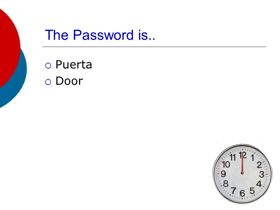The Password is..  Ficha, Tarjeta  Card
