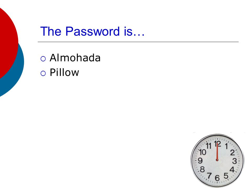 The Password is…  Sabana  Sheets