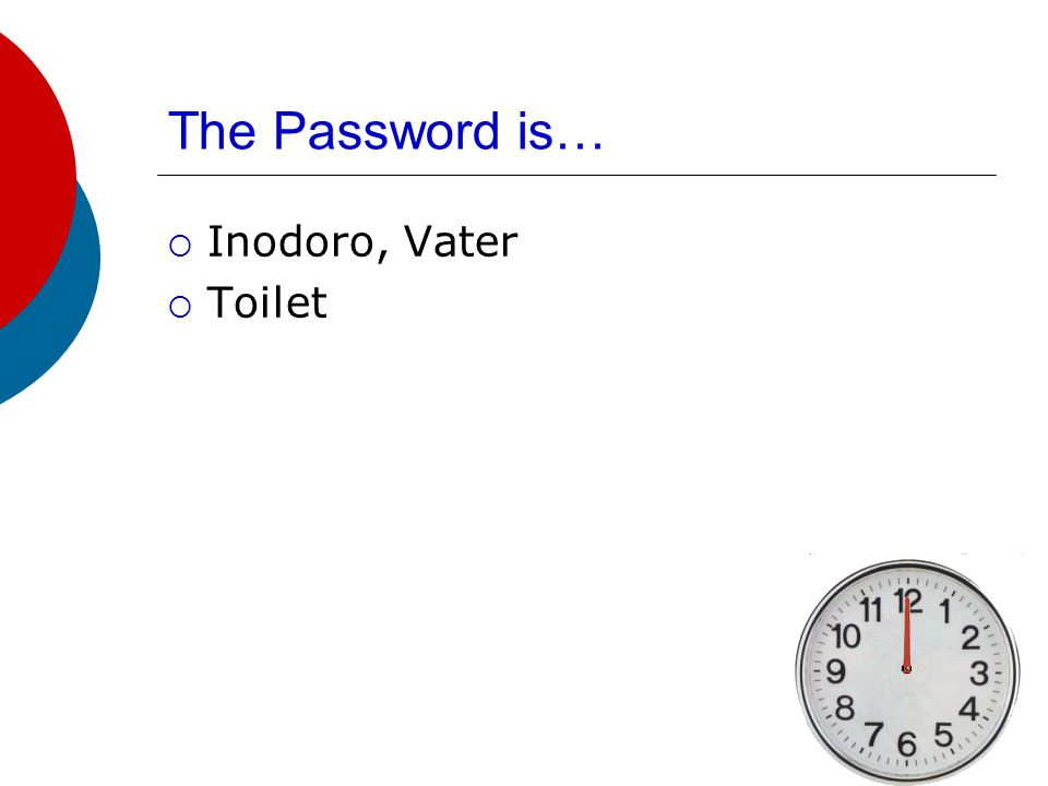 The Password is…  Ducha  Shower
