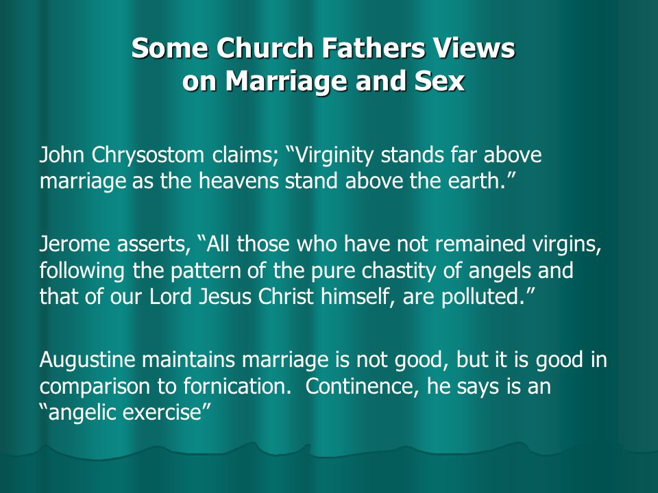 Why Get Married? I Corinthians 7:1-9 I.The Proper Place For Sexual Relations (7:1-6) A.