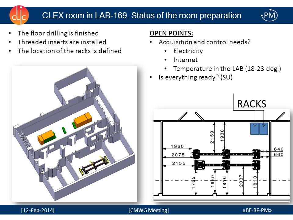 6 [12-Feb-2014] [CMWG Meeting] «BE-RF-PM» Lab 169/S-039: Implantation drawing 6 Espace réservé pour manutention