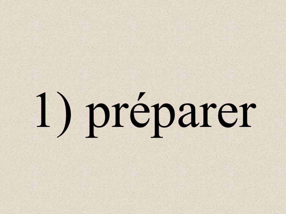 1) Quels sont les verbes en -er? 2) Conjugez le verbe dans la phrase. 3) Traduisez la phrase en anglais.