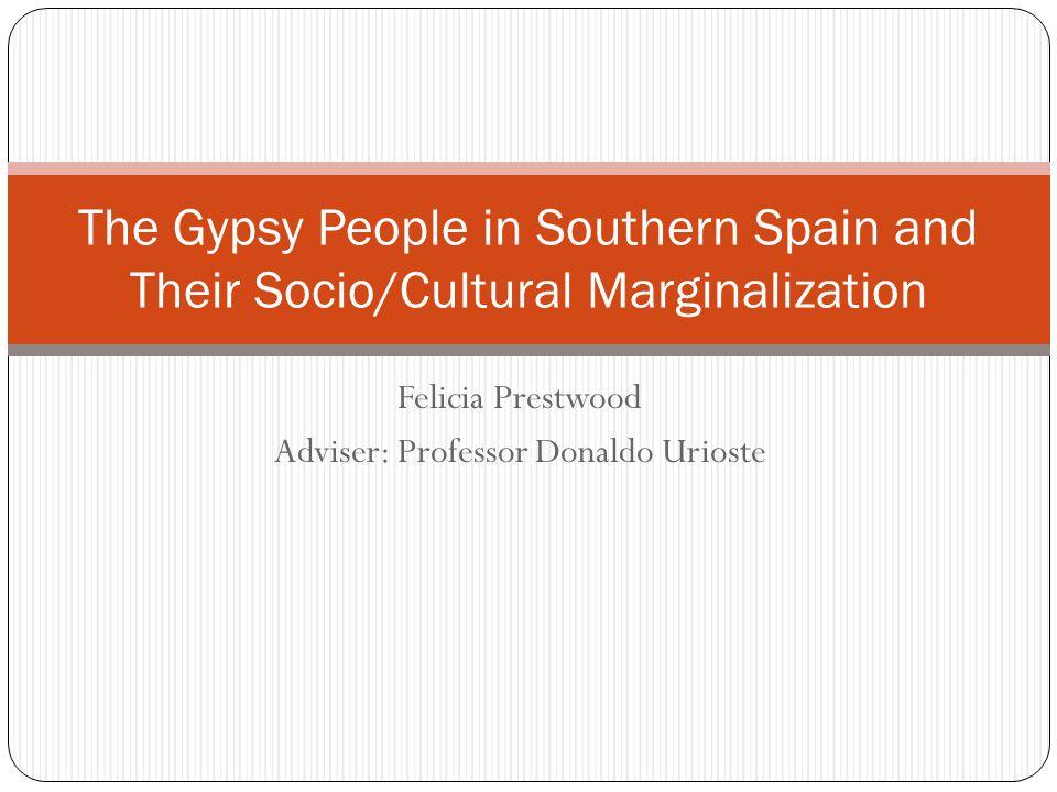 Felicia Prestwood Adviser: Professor Donaldo Urioste The Gypsy People in Southern Spain and Their Socio/Cultural Marginalization