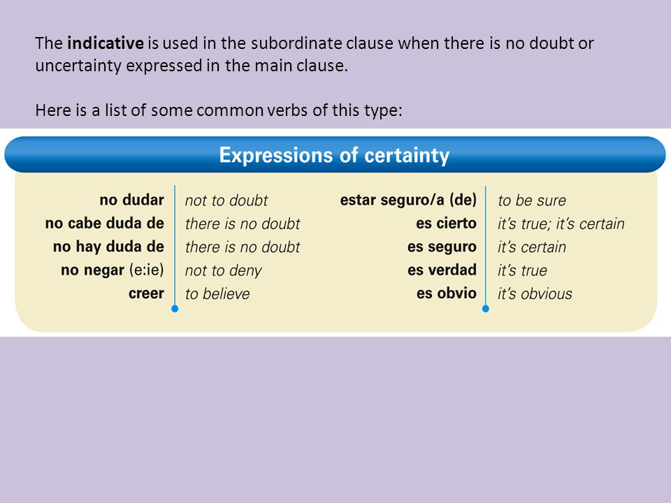 The indicative is used in the subordinate clause when there is no doubt or uncertainty expressed in the main clause.