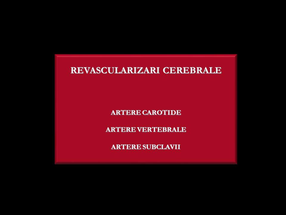REVASCULARIZARI CEREBRALE ARTERE CAROTIDE ARTERE VERTEBRALE ARTERE SUBCLAVII