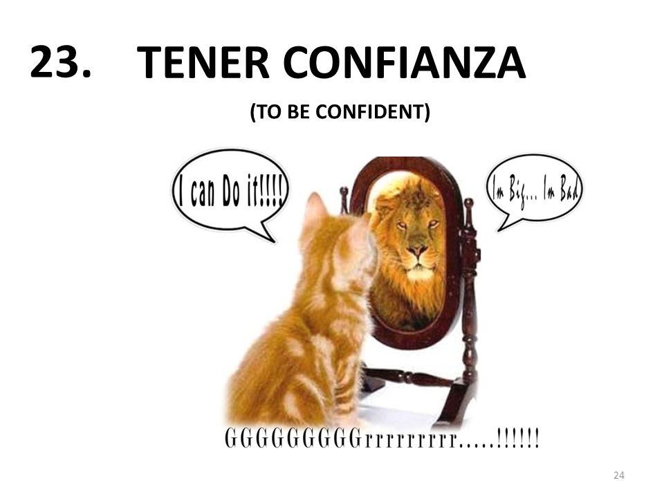 TENER CONFIANZA 24 23. (TO BE CONFIDENT)