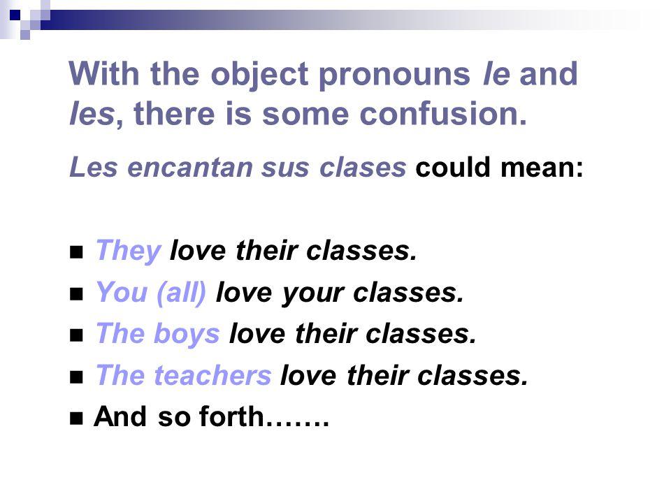 To relieve that confusion, we add A phrases: a mí a ti a él a ella a usted a nosotros, -as a ellos, -as a ustedes a + a name a + a noun A phrases emphasize and/or clarify