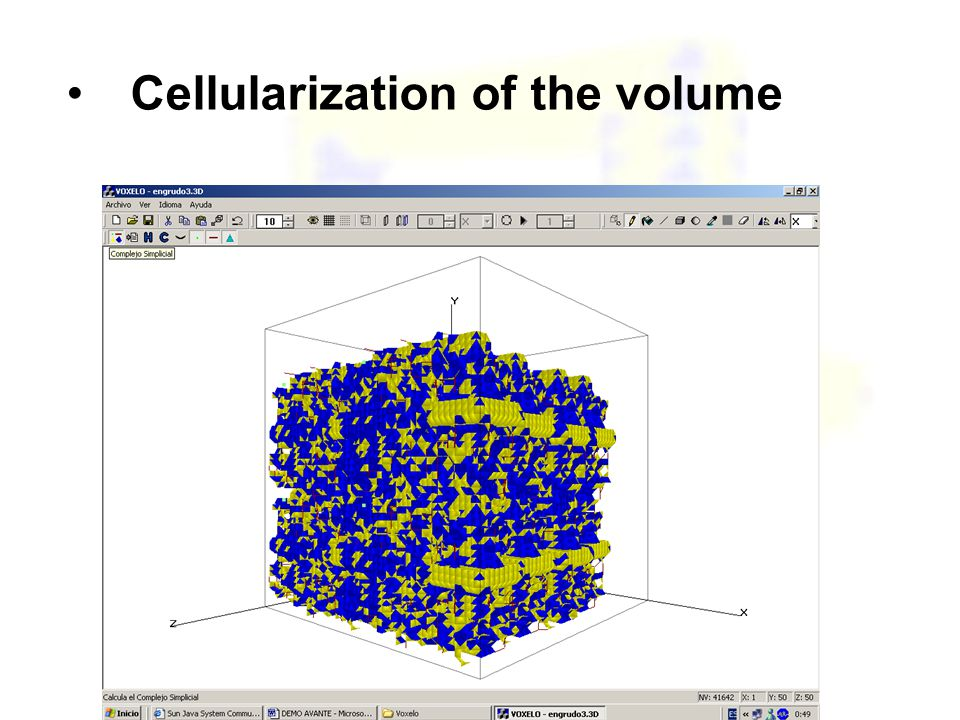 Cellularization of the volume
