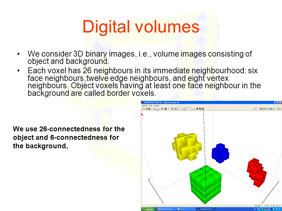 Method of Saha et al, 2003: topological classification of voxels of the thinned volume