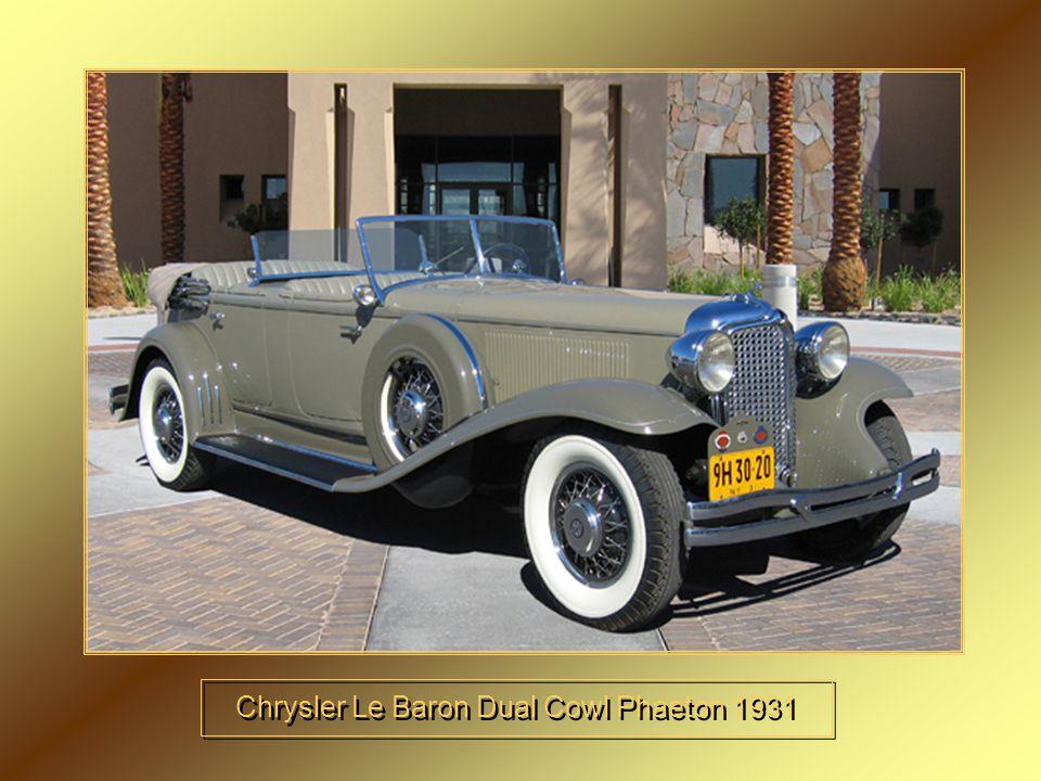 Chrysler Le Baron Dual Cowl Phaeton 1931