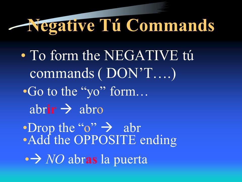 IrregularAffirmative Commands Miguel, haz tu cama.